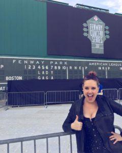 Nothing like LADY GAGA written on the green monstah! fenwayparkhellip