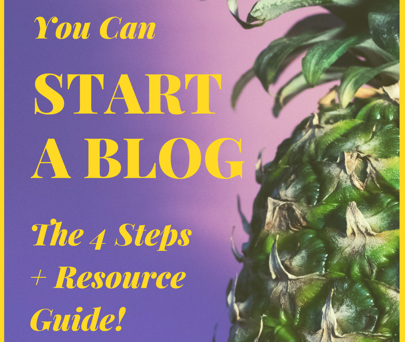 [#CareerGoals] Yes, You Can Start Your Own Blog: The 4 Steps + Resource Guide!